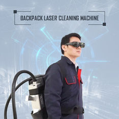CE Aproved Backpack Laser Rust Removal Machine For Cleaning Jobs Outdoors